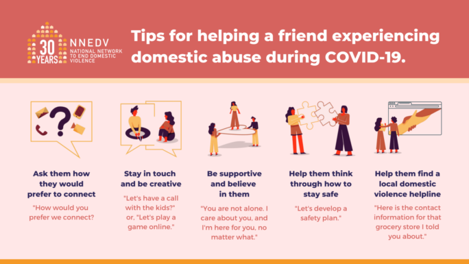 NNEDV Tips For Helping During COVID-19